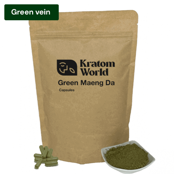 Green Maeng Da kratom capsules