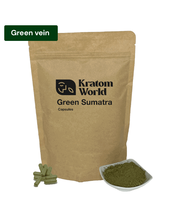 Green Sumatra kratom capsules