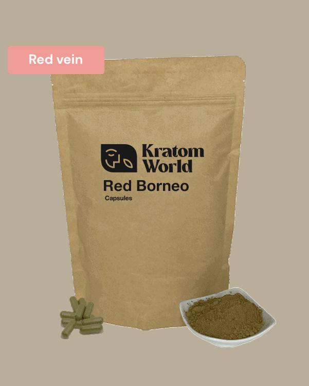 Red Borneo kratom capsules