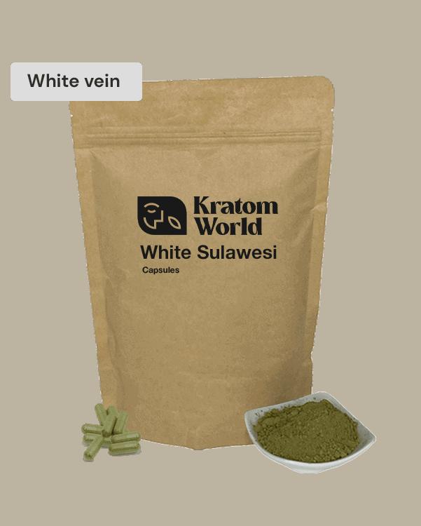 White Sulawesi kratom capsules