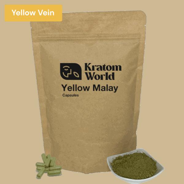 yellow malay kratom capsules