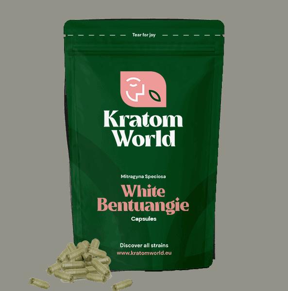 White Bentuangie kratom Capsules